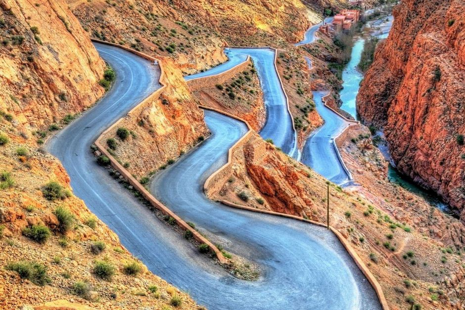 Gorges du Dadès Road in Marocco